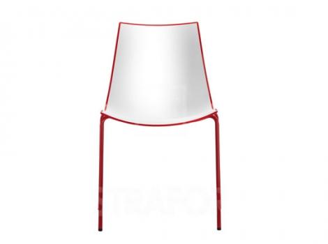 дизайнерский современный стул красный