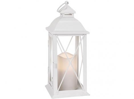 светильник декоративный белый led с таймером 32 см металл