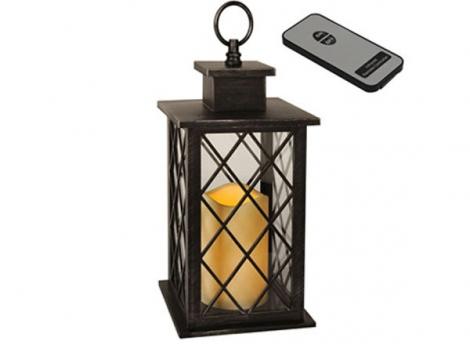 светильник декоративный led с таймером 30 см пластик с пультом ду