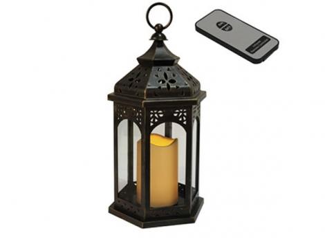 светильник декоративный черный led с таймером 33 см пластик с пультом ду