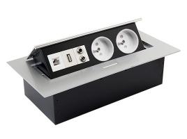 Встраиваемая выдвижная розетка в столешницу GTV AE-PB02GU-53