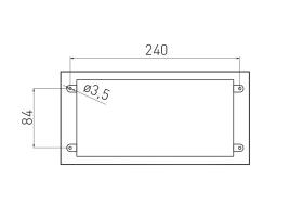 Встраиваемая выдвижная розетка в столешницу GTV AE-PB03GS-20