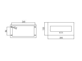 Встраиваемая выдвижная розетка в столешницу AE-PBU2GU-10