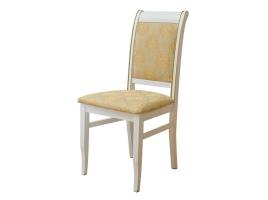 Белый стул с золотой патиной (Палермо-2)