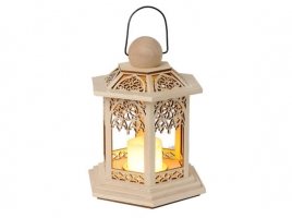 Светильник декоративный LED, с таймером, 20 см, дерево