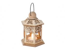 Светильник декоративный LED, 13 см, дерево
