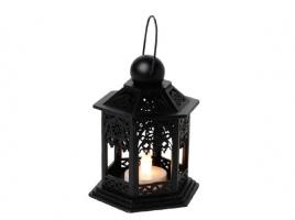 Светильник декоративный LED, 13 см, дерево, черный