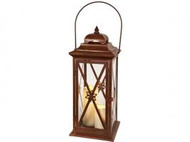 Светильник декоративный LED, с таймером, 50 см, металл, коричневый