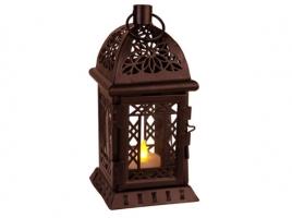 Светильник декоративный LED, с таймером, 20 см, пластик, коричневый