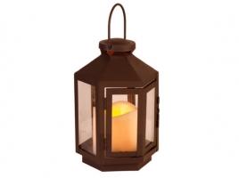Светильник декоративный LED, с таймером, 20 см, металл коричневый