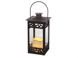 Светильник декоративный LED, с таймером, 23,5 см, металл темно-коричневый