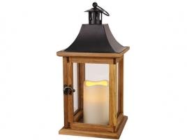 Светильник декоративный LED, с таймером, 35 см деревянный