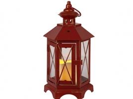 Светильник декоративный LED, с таймером, 30 см, металл, красный