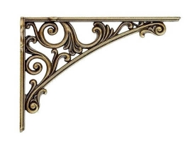 Кронштейн для полки, (200х142) античная бронза