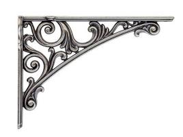 Кронштейн для полки, (200х142) серебро античное