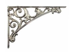 Кронштейн для полки, (200х142) серебро глянец