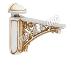 Кронштейн для полки, (95х125) белый с золотой патиной