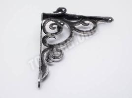 Кронштейн для полки (165х180) черный патина серебро
