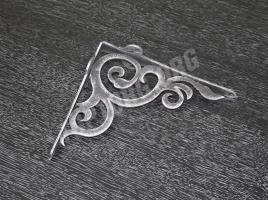 кронштейн для полки декоративный черный патина серебро