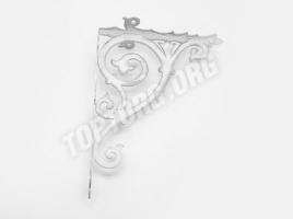 Кронштейн для полки (280х220) белый патина серебро