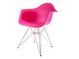 дизайнерский стул eames dar розовый