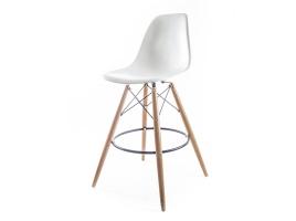 барный дизайнерский стул eames dsw белый