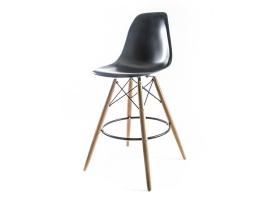 барный дизайнерский стул eames dsw чёрный