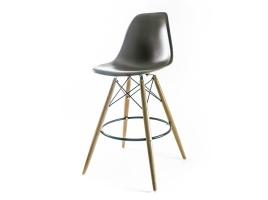 барный дизайнерский стул eames dsw коричневый