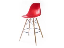 красный барный дизайнерский стул eames dsw