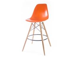 барный дизайнерский стул eames dsw оранжевый