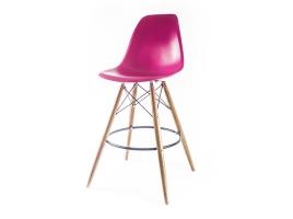 барный дизайнерский стул eames dsw розовый