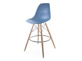 барный дизайнерский стул eames dsw серо-голубой