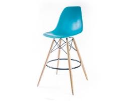 барный дизайнерский стул eames dsw цвета синий океан