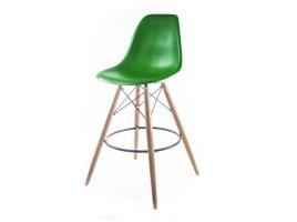 зеленый барный дизайнерский стул eames dsw