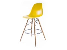барный дизайнерский стул eames dsw желтый