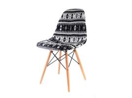 Дизайнерский стул Eames dsw dining chair черный рисунок