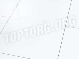 Глянцевый ламинат Falquon D2935 Uni white (с фаской)