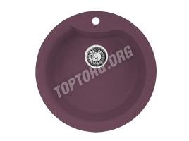 Круглая мойка из искусственного камня, цвет фиолетовый (модель 1)