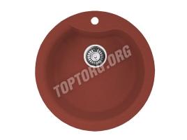 Круглая мойка из искусственного камня, цвет красный (модель 1)