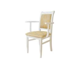 Белое обеденное кресло с патиной (Палермо-3)