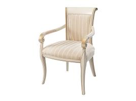 Белое кресло с золотой патиной Алекс 1