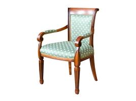 Коричневое кресло с патиной Алекс 2