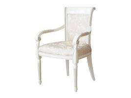 Белое кресло с золотой патиной Алекс 3
