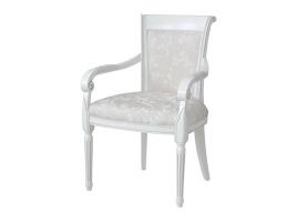 Белое кресло с серебряной патиной Алекс 5