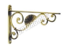 Кронштейн для полок 145х192 мм - бронза состаренная