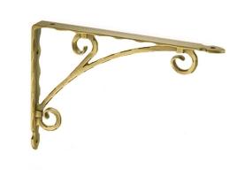 Кронштейн для полки (250х180) античное золото, 250 мм