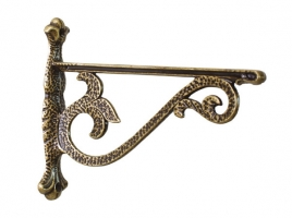 Кронштейн для полки (160х200), отделка бронза античная, малый