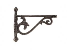 Кронштейн для полки (160х200), отделка серебро античное, малый