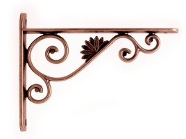 Кронштейн для полки (145х195) медь античная