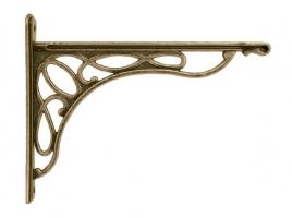 кронштейн для полки merletto отделка бронза античная большой